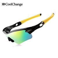 очки защитные очки солнцезащитные очки велосипедный велосипед оптовых-CoolChange Велосипедные очки Поляризованные солнцезащитные очки Шоссейный велосипед Спортивные очки на открытом воздухе 5 групп линз Велосипедные очки Близорукая оправа