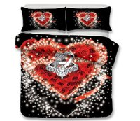 Wholesale 3d rose printed bedding set for sale - Group buy 3D Flower Bedding Set Rose Flower Romantic Duvet Cover with Pillowcase Twin Full Queen King Size