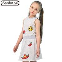fb41725eb6 Venta al por mayor Algodón Verano para niños Vestido de moda Sandía Disfraz  de niña Estampado lindo Vestido de niña Marca Fiesta Niño Cumpleaños