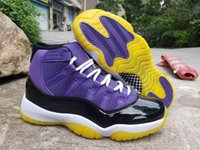 Wholesale good quality sneakers for sale - Group buy New color J11 Jumpman Purple Yellow Black Men Basketball Shoes good quality s Designer Sports Mens Trainer Sneakers