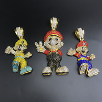 Wholesale game jewelry for sale - Group buy Very Lage Size inch Franco Chain Cartoon Game pendant Hip hop Necklace Jewelry Bling Bling Iced Out