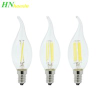Wholesale tungsten filament resale online - HaoXin Dimmable V W W W LED Filament Chip E14 Edison Candle Light Bulb Retro Tungsten Chandelier Lighting