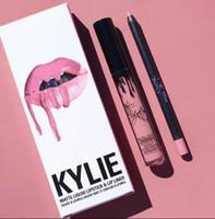 heiße samtlippen großhandel-41 farben KYLIE JENNER matt lipgloss hot lip liner mode lippenstift lipgloss lipliner Lipkit Velvet Makeup liner