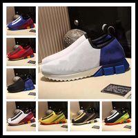zapatos de goma transpirable para hombre al por mayor-CALIENTE Hombres de la marca Tela Stretch Jersey Sorrento Slip-on Sneaker Designer Lady Two-tone Rubber Micro Sole Transpirable Casual Shoes 10X545