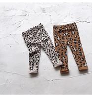 koreanische mädchen schlank großhandel-Baby Mädchen koreanische beiläufige Leopard Leggings Strumpfhosen Kinder dünne Hosen Hosen Print Stretchy Legging Kinder Design Kleidung Kleidung