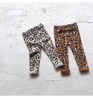 korece kızlar ince toptan satış-Bebek kızlar Kore Rahat Leopar Tayt Tayt Çocuklar ince pantolon pantolon Baskı Sıkı Legging Çocuk tasarım Giyim Giyim