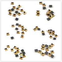 Wholesale glasses fancy dress resale online - Various Sizes Square Amber Fancy Stone Sew On Rhinestone Glass Crystal Flatback For Sewing Strass Dress Clothing