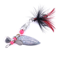 Wholesale sequin fishing lures resale online - HENGJIA Fishing Lures g mini Wobbers Hand Spinner Shone Sequin Spoon Baits Fishing Tackle Carp fish