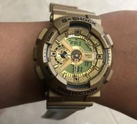 Wholesale men s watches orange for sale - Group buy 2019 Popular Mens Summer G Sports GA110 Watches LED Waterproof Climbing Digital S Shock Men Watch