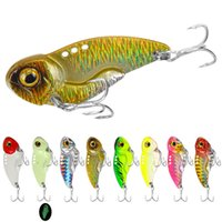 Wholesale shots lures for sale - Group buy 3D Eyes Metal Vib Blade Lure G cm Sinking Vibration Baits Artificial Vibe for Bass Pike Perch Fishing Long Shot