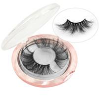 cílios mink curl venda por atacado-3D Mink Cílios 25mm Mink Cílios Maquiagem Dos Olhos Grosso Longo Onda Vison Lashes Extensão Natural Cílios Postiços Com Caixa RRA1208