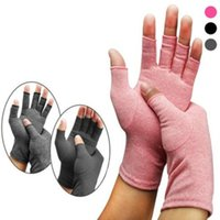 Wholesale hand cotton gloves resale online - Yoga Open Fingers Gloves Fashion Women Men Cotton Elastic Hand Pain Relief Therapy Gloves Party Festival Gift WY491Q