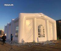 tienda inflable de la boda al por mayor-Estructura de fiesta y boda de 15m de longitud de marquesina inflable grande modificada para requisitos particulares.