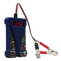 analyseur led achat en gros de-MOTOPOWER MP0514B Voltmètre et système de charge avec testeur de batterie numérique 12V avec écran LCD et indication par LED - Douleur en caoutchouc bleu