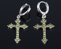 Wholesale knot earings for sale - Group buy high quality fashion diamond crystal silver women s cross earings mm mm