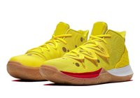 Wholesale kids basketball shoes for sale for sale - Group buy Kyrie V Sponge Bob kids Basketball shoe for sale With Box hot Irving SpongeBobs boys men women sneakers US4 US12