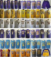 2019 New Los Angeles City Edition Purple 23 LeBron James 0 Kyle Kuzma 2  Lonzo Ball 14 Brandon Ingram 24 Kobe Bryant Lakers Basketball Jersey b79999017