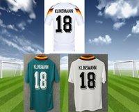 deutschland cup großhandel-1990 1994 1988 Deutschland Retro Fußball-Jersey-Version Littbarski BALLACK Matthias Klinsmann nach Hause KALKBRENNER shirts JERSEY