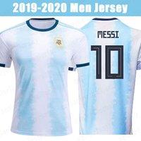 camisetas de futbol uniformes argentina al por mayor-19 20 10 Argentina jerseys de fútbol del messi 9 AGUERO Dybala 22 LAUTARO DI MARIA Hogar 2019 del equipo nacional de fútbol de los hombres Camisas Uniformes