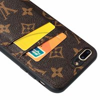 iphone telefonhalter großhandel-Luxuxtelefonkasten für iPhone X XS maximales XR 7 8 plus Kartenhalter-Leder-Abdeckung für Galaxie S10E S10 plus S9 S8 plus Note9 8 Entwerfer-Telefonkasten