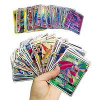 kartenspiele für großhandel-Spielen der Sammelkartenspiele Pikachu EX GX Mega Shine Englisch Karten Anime Poket Monsters Cards Keine Wiederholung 100pcs / lot