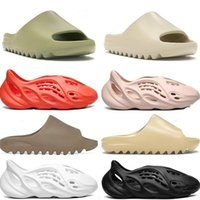 Wholesale slipper men for sale - Group buy Classic Slides Men Women Slippers Foam Rnner Slide Bone Earth Brown Resin Bone Desert Sand Triple Black Kids Children slides beach