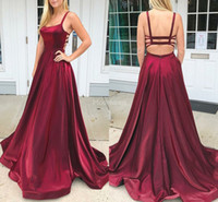 Wholesale sweep backless formal evening dress resale online - 2019 Sexy Prom Dresses Straps Open Back A Line Sweep Train Special Occasion Dresses Modern Formal Party Evening Gowns Hot Vestidos De Fiesta