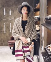 Wholesale Winter Womens Scarfs Luxury Brand Cashmere Scarf Plaid Checked Scarf for Women Ladies Shawls and Scarves Pashmina Echape
