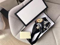ingrosso bandeau di moda-Designer Donna Fascia Lovely Cat Stampato Fascia Croce Signore Bandeau Nero Turista Testa avvolgente Accessori moda donna