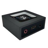 araba stereo için bluetooth dongle toptan satış-2 1 Bluetooth Verici Alıcı 3.5mm Araç Kiti Kablosuz Ses Adaptörü Için Bluetooth 4.2 Stereo Ses Dongle TV Ev Hoparlör