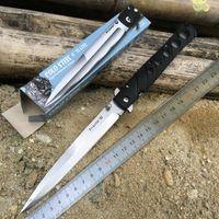 Wholesale Cold Steel Black Ti Lite VI inches Blade Tactical Stiletto Folding Survival Knife Folding Blade Knife SXP