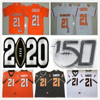 Wholesale NCAA th Oklahoma State Cowboys College Barry Sanders Jerseys Home Away Stitched Barry Sanders Retro University Football