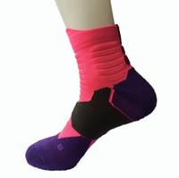 diz çorapları beyzbol üzerinde toptan satış-2 Çift Spor Çorap Diz Legging Çorap Futbol Beyzbol Futbol Diz Üzerinde Ayak Bileği Erkek Kadın Çorap Sıcak Satış Dropshipping 338