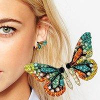 Boucle d/'oreille papillon ailes Oreille Clip Asymétrique Bijoux Boucles d/'oreilles Pour Femmes Filles
