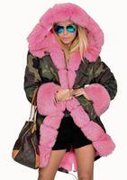 fleece parka frauen großhandel-Hoodies Mode Winterjacke Frauen Warme Mantel Kunstpelz Baumwolle Fleece Mantel Weibliche Lange Mit Kapuze Mäntel Parkas Mit Kapuze