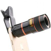 объектив телескопа для мобильного телефона оптовых-Универсальный 8X8 Оптический Zoom Телескоп Камера Объектива Клип Мобильный Телефон Бинокль Телескоп для iPhone6 Samsung HTC Huawei Xiaomi