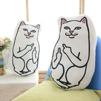 Wholesale anime cat pillows for sale - Group buy 2018 New Kawaii Plush Doll Toy cm Ripndipp cat Doll Pillow Cute rip n dip Soft Stuffed Neck Cushion Toys Girlfriend Gift