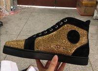 ingrosso scarpe piatta moda italia-Alti pattini del progettista di qualità equipaggia le donne inferiori rosse Spike piatto No Limit scarpe da ginnastica di moda Italia scarpe da sera di formato 35-46 S02