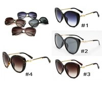 Wholesale sunglasses c resale online - 5 Colors pearl big frame sunglasses C brand fashion designer luxury women sun glasses driving eyewear High Quality women sunglasses