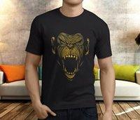 hombre camiseta bambú al por mayor-New Popular Onnit Primal Bamboo Monkey Hungry Face camiseta negra para hombre S-3XL