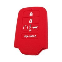 smart schlüsselhalter groihandel-5 Tasten SILICONE CAR KEYLESS SMART KEY FOB-ABDECKUNG FÜR 2015 2016 2017 CIVIC ACCORD PILOT REMOTE CASE HOLDER SHELL