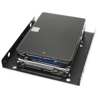 sabit disk iç sata toptan satış-Metal Sabit Disk Dirseği Sabit Disk 2.5 3.5 Çift Masaüstü SSD Montaj Braketi İç Adaptörü