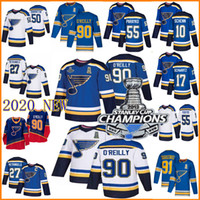personifizierte nhl trikots groihandel-2019 Stanley Cup Champions St. Louis Blues 90 Ryan O'Reilly Jersey 50 Binnington Schwartz Parayko Schenn 91 Vladimir Tarasenko Hockey Jersey