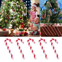 Wholesale crutches decorations resale online - 50Pcs Candy Crutch Merry Christmas Tree Decorations for Home Tree Hanging Pendant Natal Natal New Year Decoration cm cm