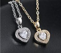 herz ozean diamant großhandel-Kristall gefror heraus Ketten Das Herz des Ozeans Halskette Diamant-Anhänger Titanic Designer Halskette Luxus Frauen Designer-Schmuck Halskette