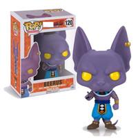 caja de figuras de anime al por mayor-NUEVO Funko Pop! Anime Dragon Ball Z Beerus vinilo figura de acción con caja de regalo de juguete # 120