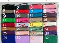 free dhl nakliye debriyajları toptan satış-2019 Free markası tasarımcı cüzdanlar debriyaj çanta pu tasarım bileklik 32 renk DHL Kargo fermuar kadın cüzdanlar wristlet