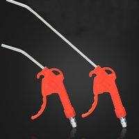 plumeau rouge achat en gros de-Outil en plastique rouge Poignée en plastique inclinée Buse coudée Duster de soufflage pour pistolet à air Cleaner