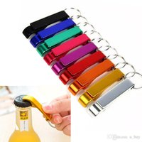 Portable Aluminum Alloy Stainless Steel Keychain Beer Bottle opener with keyChain 2-in-1 Design for Party Gift Multifunction Tool