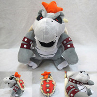 koopa kid plüsch großhandel-22-24cm Super Mario Knochen Kubah Drachen Koopa Broswer Plüsch-Spielzeug-Kind-Karikatur weicher Plüsch-Puppen für Kinder